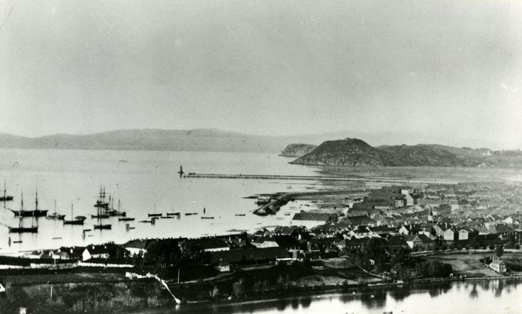 Trondheim, Norway in circa 1870