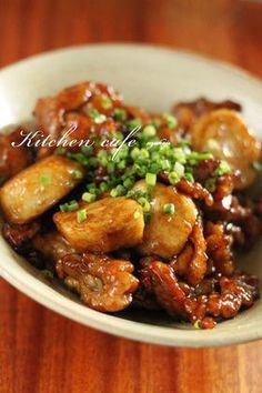 """Teriyaki of a taro and pork "" - japanese recipe/里芋と豚肉の照り焼き"