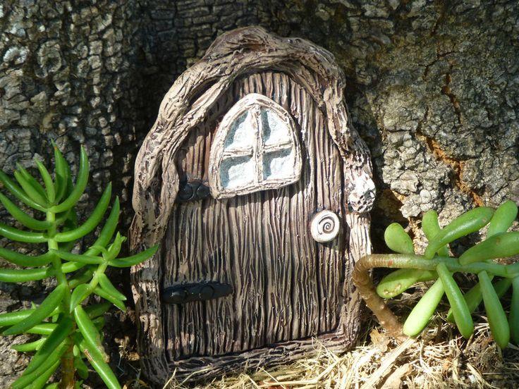 1 x Hand made fairy, gnome, sprite magical door - beautiful in your fairy garden https://www.facebook.com/InspiredByFae?ref=hl     By Michelle Fenton