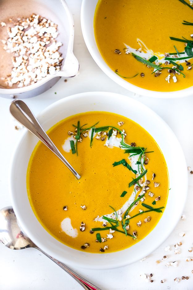 Thai Sweet Potato Soup with Lemongrass and Ginger