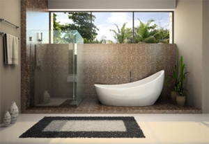 Love the tub!: Bathroom Design, Wet Rooms, Decor Ideas, Modern Bathroom, Interiors Design, Bathroom Remodel, Bathroom Ideas, Bathroom Decor, Contemporary Bathroom
