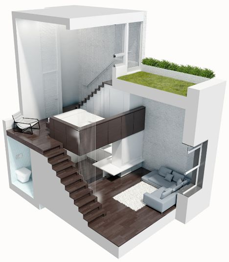 This is very spacious for such a tiny home -- it even has room for a garden!  For tips, resources and property listings, visit us at www.shoeboxapartments.com.au.