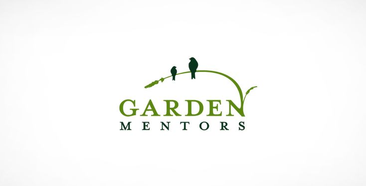 how cute - perfect match of graphic and meaning of organization Garden Mentors Logo Design | Pixelube