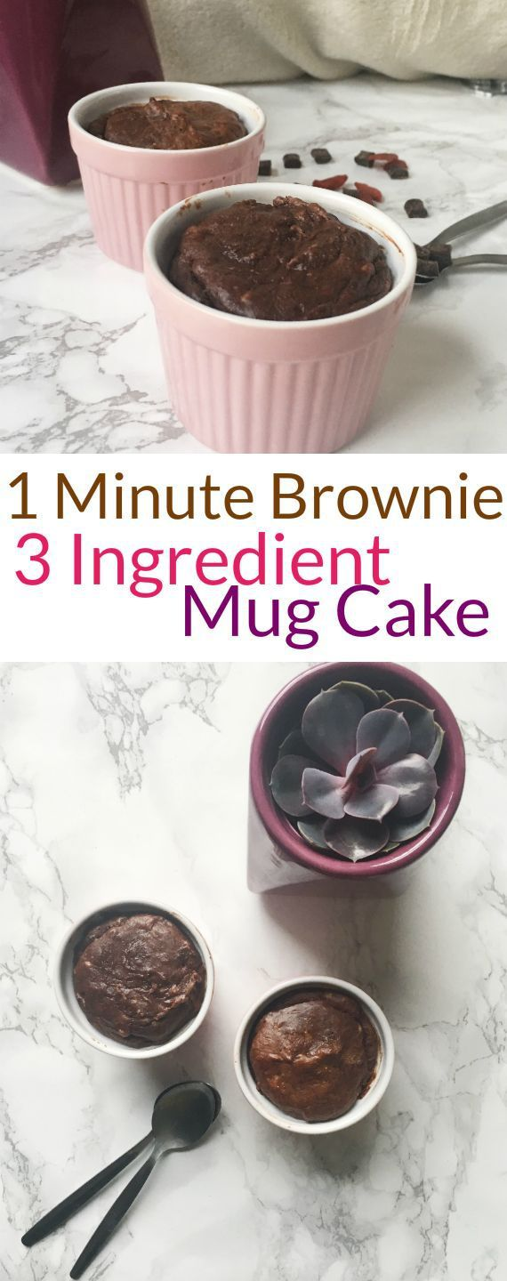 Single Serving 1 Minute Mug Cake Peanut Butter Brownie Recipe