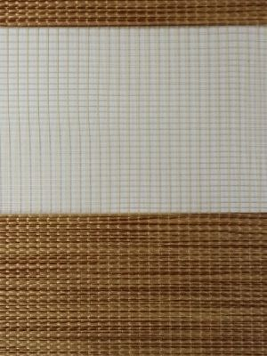 'Florence Teak' - a warm colour fabric.  Available from our Florence Range.  Call our Window Blind Advisors for more information.