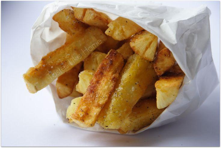 cassava (yuca) fries is easy.