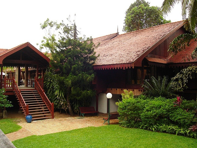 Club Med Cherating, Malaysia.The Malay architecture is so pure and makes you feel like you are back into time