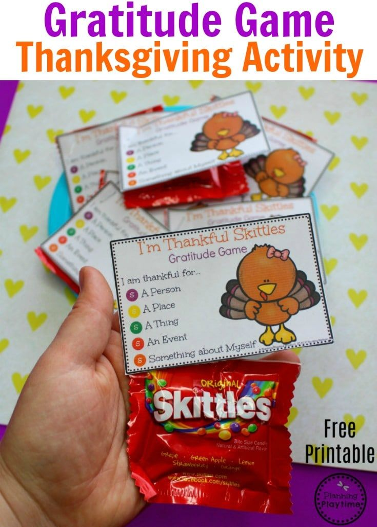 Gratitude Game Thanksgiving Activity for Kids.