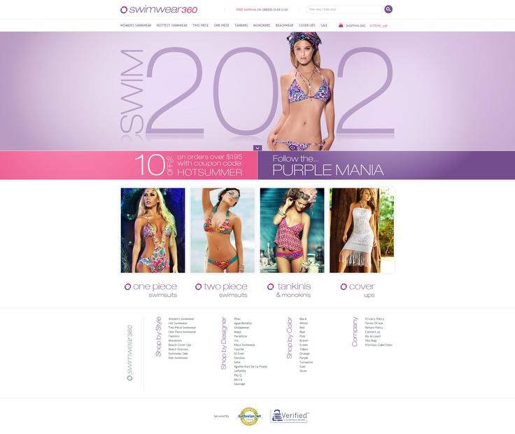 Swimwear360 - High End Web Design