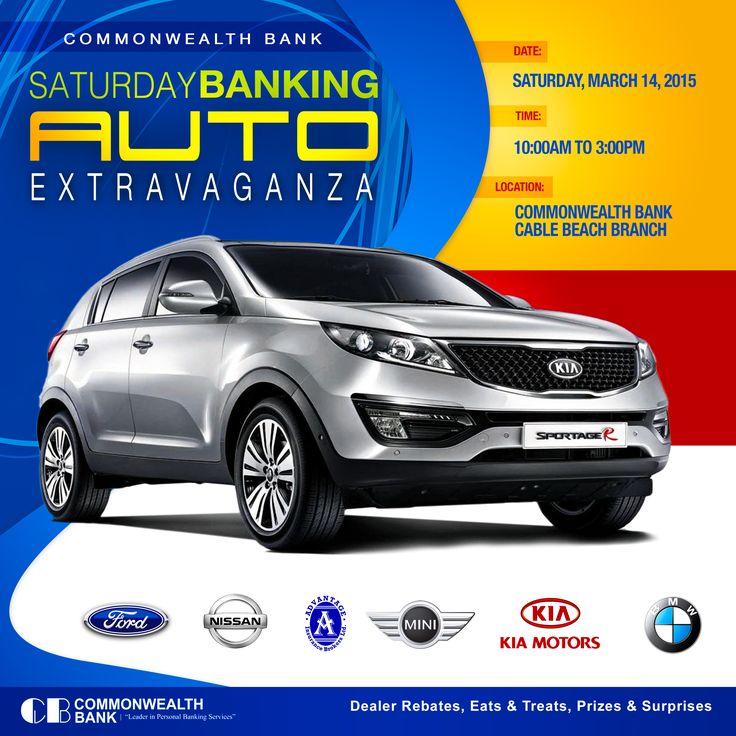 Commonwealth Bank Saturday Banking Auto Extravaganza