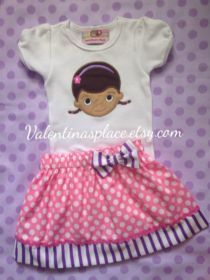Adorable Doc Mcstuffins Birthday Outfit by Valentinasplace on Etsy https://www.etsy.com/listing/206928504/adorable-doc-mcstuffins-birthday-outfit