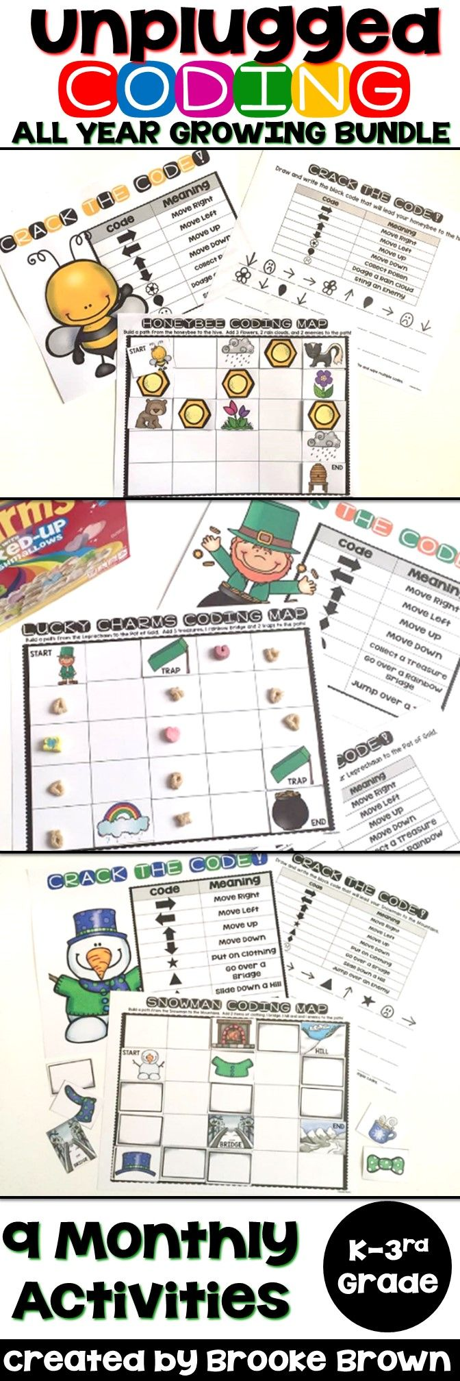 Worksheet Kindergarten Enrichment Activities 485 best enrichment activities images on pinterest science unplugged coding for the entire year kindergarten first grade and second grade