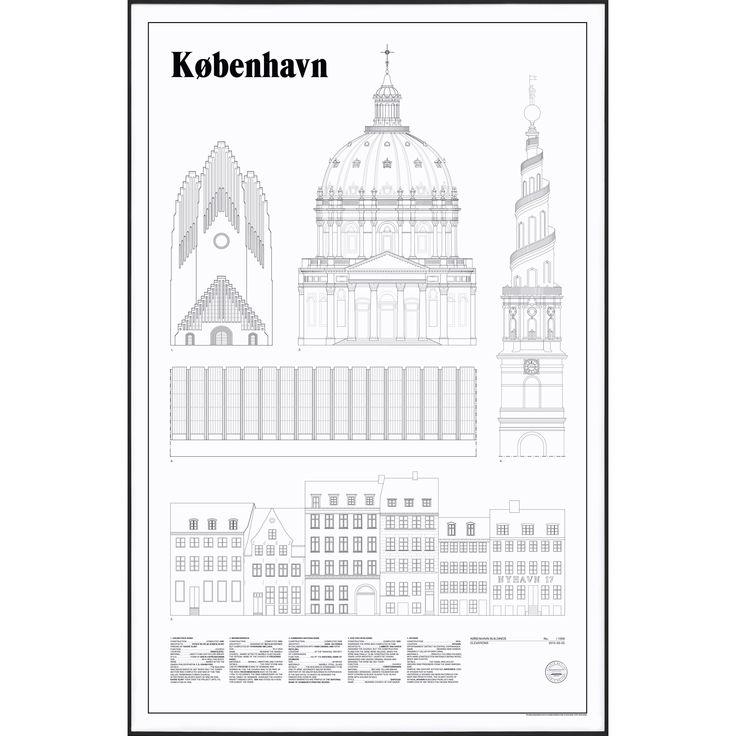 Copenhagen Elevations poster – Studio Esinam #interior #design