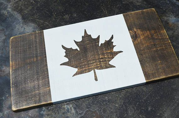 Canadian Flag Wooden Canada Flag Custom Wooden Canadian