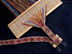 band woven on standard rigid heddle