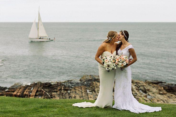 Same sex wedding. Coastal Maine Wedding in Cape Neddick   Hailey & Joel   Maine Wedding Photographers