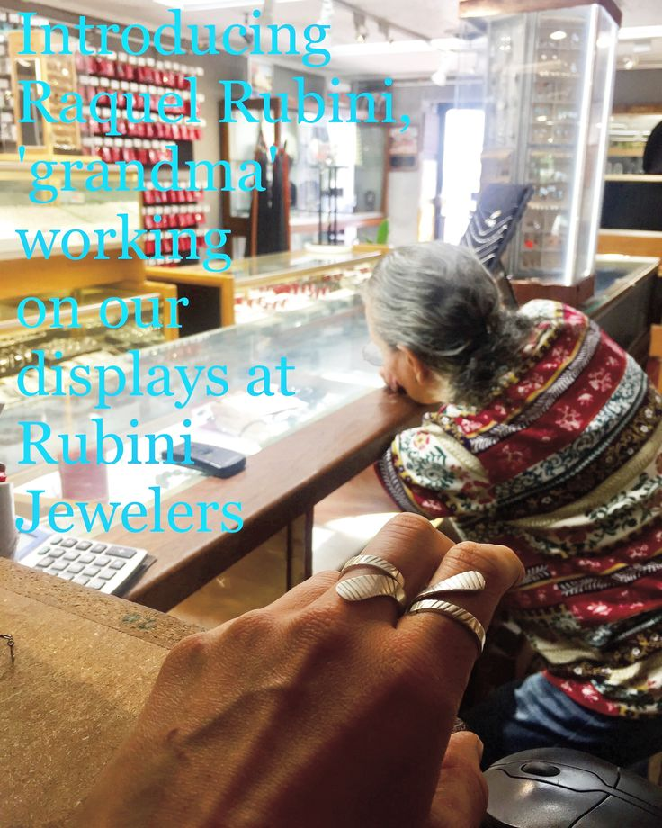 This is actually the Rubini Jewelers matriarch. And in the foreground is our large ice hockey stick wrap ring $40