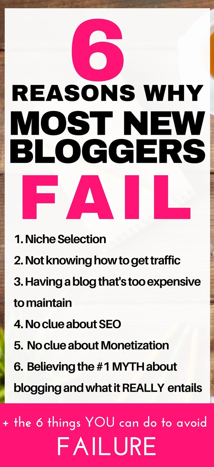 6 Must read blogging tips that you must know if you want to have a successful blog. Blogging for beginners tips and tricks I wish I know when I started my first blog and FAILED! Read this to avoid failure as a new blogger