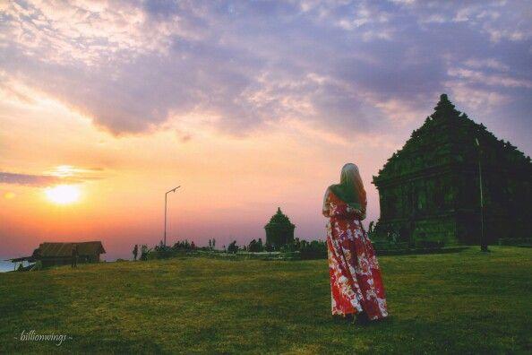 Sunset at Candi Ijo