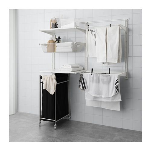 ALGOT Wall upright/shelves/drying rack IKEA
