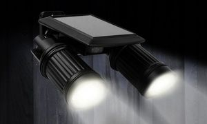 Groupon - Solar-Powered PIR-Activated Twin-Head Security Light. Groupon deal price: $24.99