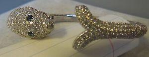 Sterling Silver Pisces Hinged Cuff Bracelet by Judith Ripka Average  | eBay