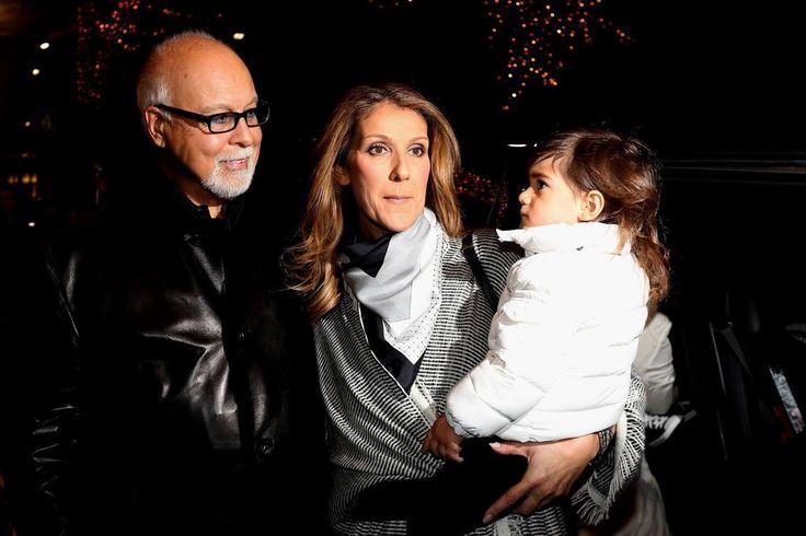 Céline Dion, René Angélil et René-Charles à Paris en 2012
