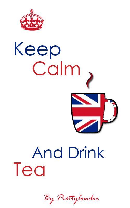 Keep Calm and Drink Tea by Prettylouder #keepcalmtea #tea #london