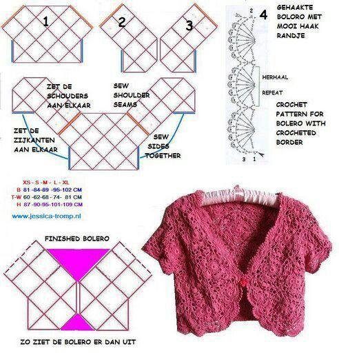 Crochet bolero ll                                                                                                                                                      Plus