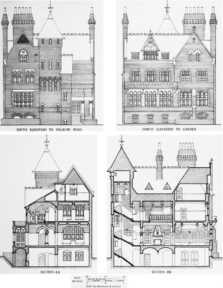Tower House, 29 Melbury Road, Kensington, London. William Burges, 1875-1881.