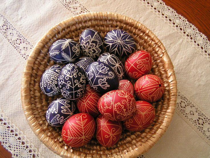 Faragóné Kati kezéből - Képgaléria - Hímes tojások - Hagyományos írott tojások