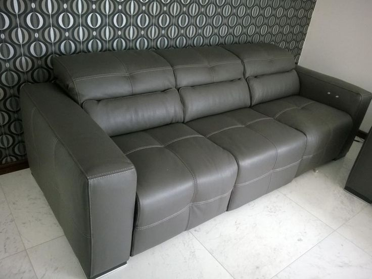 3 Seater Milano Sofa In 3 Modules With Electric Reclining Seats And  Adjustable Headrests In Italian
