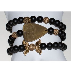 Gold Rush Stack Of 3 Bracelets, $130, now featured on Fab.