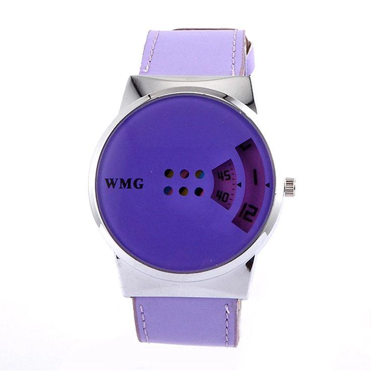 Creative Hollow Out Dial Wristwatch Womens Fashion Dual Time Display Wrist Watch Purple - Intl | Lazada PH