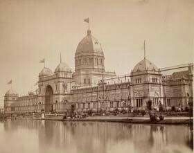 Melbourne's Exhibition Building in Victoria in 1880.