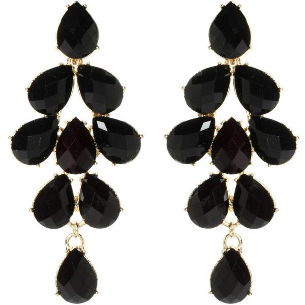 Amrita Singh South Hampton Earring (235 BRL) ❤ liked on Polyvore featuring jewelry, earrings, accessories, brincos, black, kohl jewelry, black jewelry, amrita singh jewellery, black earrings and amrita singh jewelry