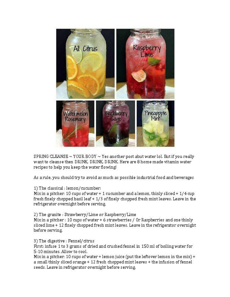 Detox water that looks yummy too.