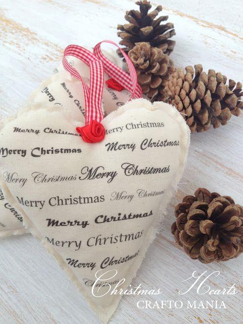 crafto-mania: Vianočné srdiečka