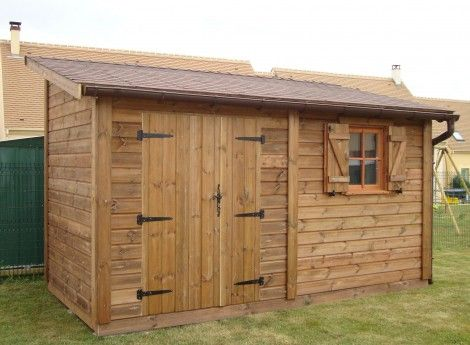 619 best Déco images on Pinterest Sheds, Cabana and Carpentry - construire un cabanon de jardin en bois