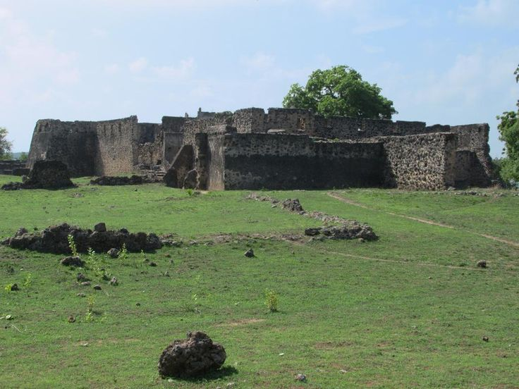 The 18th century Makutani Palace on Kilwa Kisiwani Island, Tanzania, was a fortified residence of the family of the sultan.