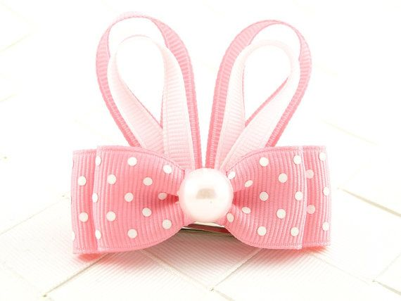 Pink Easter Bunny Hair Bow Sculptures / by OneofEverythingBows, $3.50