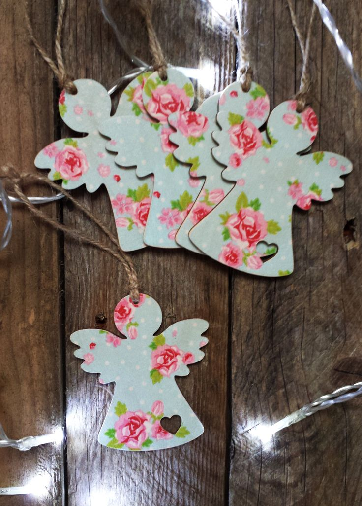 168 best shabby chic ornaments images on pinterest - Shabby chic christmas decorations to make ...