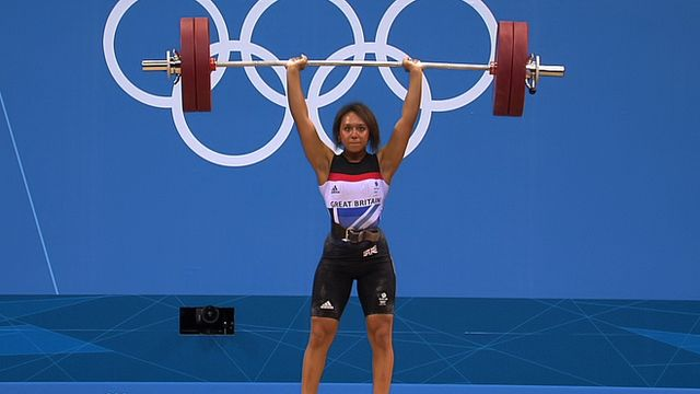 Weightlifting. Zoe Smith, 58kg category. Zoe can snatch what I can deadlift...