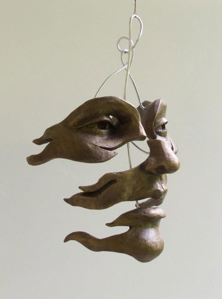Sculptures by Michael Alfano. Some of it reminds me of M.C. Escher.