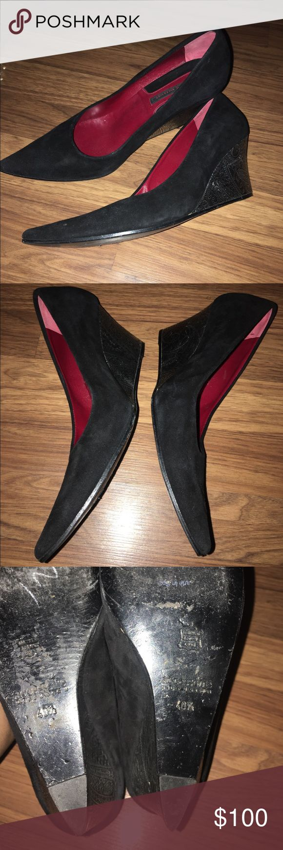 💥ACCESSOIRE DIFFUSION HEELS💥 Black suede accessoire diffusion heels! Like new size 40 1/2. Worn three times! Retail $899 real GENUINE LEATHER MADE IN FRANCE! The store front is all over Italy and France and etc. Beautiful elegant classy shoes!! Accessoire Diffusion Shoes Flats & Loafers