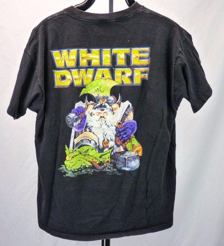 White Dwarf Games T-Shirt (XL) Rare Wizard & Goblin Art Con Promo Swag #WhiteDwarf