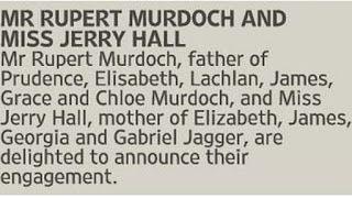 GothicMetalPoker: Rupert Murdoch dan Jerry Hall mengumumkan pertunan...