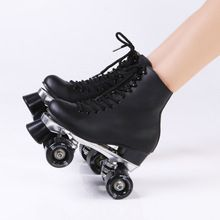 RENIAEVER Double Roller Skates Genuine Leather Two Side Roller Skate Patins Lady Ice Skates Patins Adulto Adult Skate Shoes //Price: $US $128.00 & FREE Shipping // #cosplay