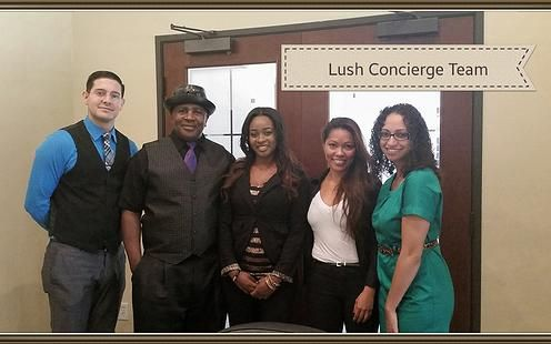 "Team-Lush ""At your Service!"""
