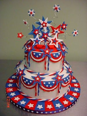 Patriotic Cake::For Labor Day • Flag Day • Independence Day and Memorial Day Celebrations.